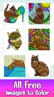 Download Cats Color by Number: Glitter + Oil Painting Book 2.5 Apk for android