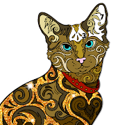 cats color by number: glitter + oil painting book 2.5 apk