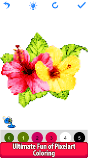 Download Flowers Color by Number:Pixel Art,Sandbox Coloring 2.5 Apk for android