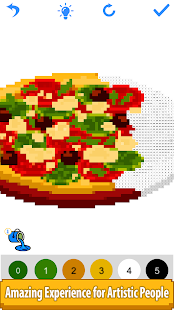 Download Food Color by Number Book-Pixel Art, Draw Painting 2.5 Apk for android