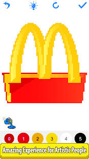 Download Food Logo Color by Number: Pixel Art Painting Book 1.6 Apk for android
