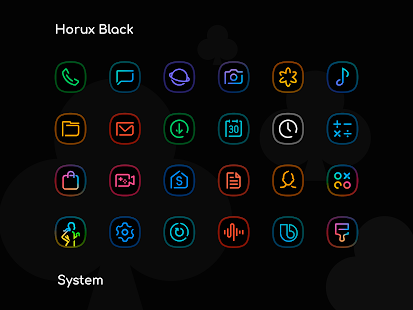 Download Horux Black - Icon Pack 4.0 Apk for android