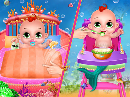 Download Little Mermaid Baby Care Ocean World 2.0 Apk for android