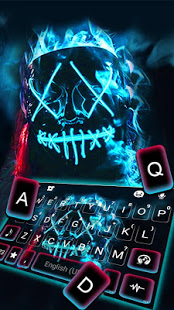 Download Neon Fire Purge Man Keyboard Theme 1.0 Apk for android