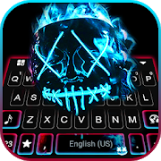 neon fire purge man keyboard theme 1.0 apk