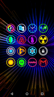 Download Neon Glow Rings - Icon Pack 5.2.0 Apk for android