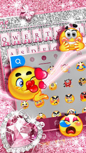 Download Pink Bow Diamond Luxury Keyboard Theme 1.0 Apk for android