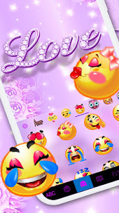 Download Purple Diamond Love Keyboard Theme 3.2.A Apk for android
