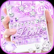 purple diamond love keyboard theme 3.2.a apk
