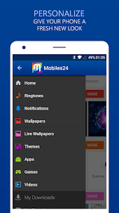 Download Ringtones & Wallpapers - Mobiles24 2.0.6 Apk for android