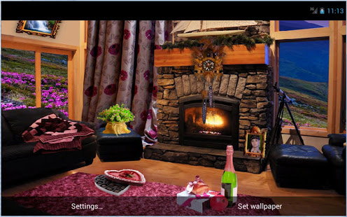 Download Romantic Fireplace Live Wallpaper 1.85 Apk for android