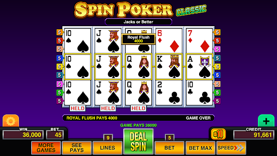 Download Spin Poker Pro - Casino Games 1.6 Apk for android