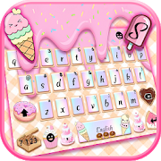 Sweet Donut Pink Drip Keyboard Theme 3.0 Apk for android
