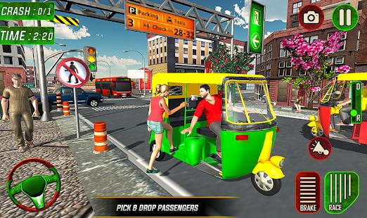 Download Tuk Tuk Auto Rickshaw Driver 2019:City Parking 1.0.7 Apk for android