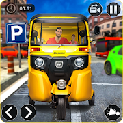 tuk tuk auto rickshaw driver 2019:city parking 1.0.7 apk