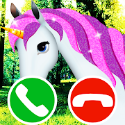 Download fake call unicorn game 8.0 Apk for android