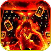 Download Flaming Fire Battle Keyboard Theme 1.0 Apk for android