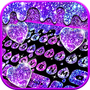 Download Galaxy Drop Heart Keyboard Theme 4.0.B Apk for android