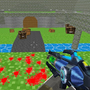 Download Paintball shooting war game: blocky gun paintball 1.19 Apk for android