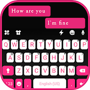 Download Pink Black Chat Keyboard Theme 3.0 Apk for android