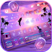 Download Sunset Sea Dolphin Keyboard Theme 1.0 Apk for android