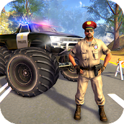 Download US Police Monster Truck Gangster Car Chase Games 1.1.14 Apk for android