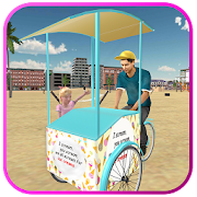 Download Beach Ice Cream Man Free Delivery Simulator Games 1.6 Apk for android