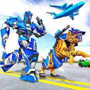 Download US Police Tiger Robot Game: Police Plane Transport 1.2.6 Apk for android